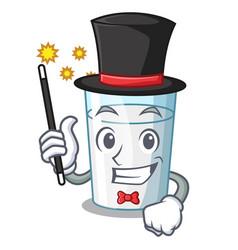 Magician cartoon sweet milk glass for breakfast vector