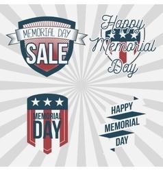 Memorial Day patriotic Labels Set vector image