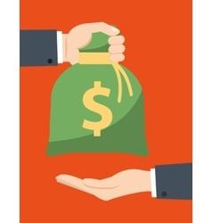 Money saving and money bag icon design vector