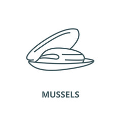 mussels line icon linear concept outline vector image