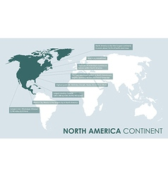 north american continent facts vector image