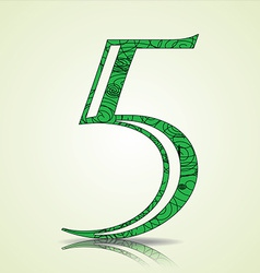 Number of Collection made of swirls - 5 vector image