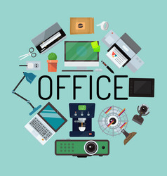 Office concept banner poster vector