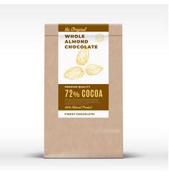 original almond chocolate craft paper bag vector image