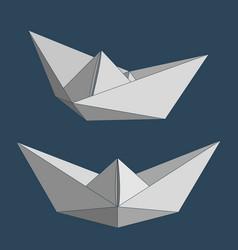 Paper ships set vector