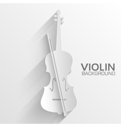 paper violin background concept vector image