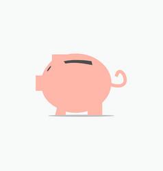 Piggy bank template design vector