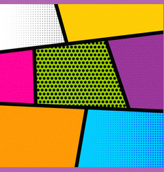 Pop art comic book strip background vector