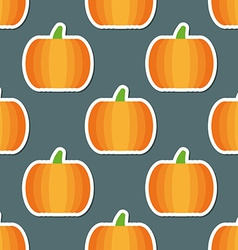pumpkin pattern Seamless texture with ripe vector image