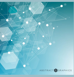 science network pattern connecting lines and dots vector image