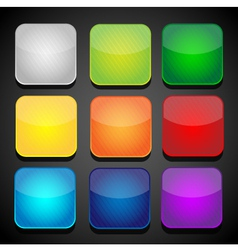 Set of color apps icons - background vector