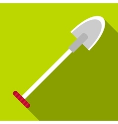 Sharp shovel icon flat style vector