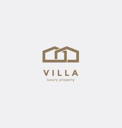 simple line house symbol vector image