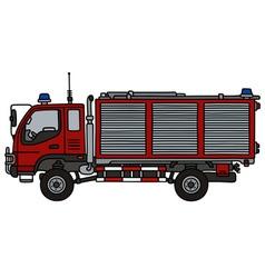 Small fire truck vector