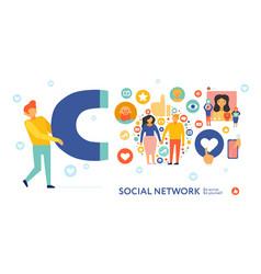 social network symbols composition vector image