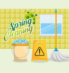 Spring cleaning concept vector