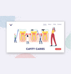 stomatology dentistry landing page template tiny vector image