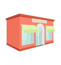 store front red building vector image