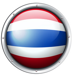 Thailand flag in round frame vector