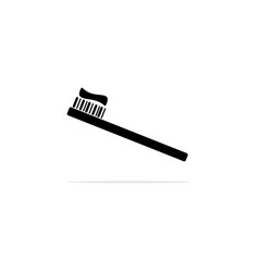 toothbrush icon concept for design vector image