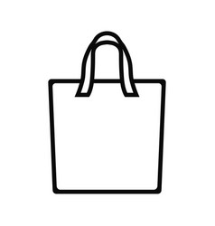 tote bag icon design template vector image