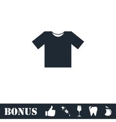 Tshirt icon flat vector