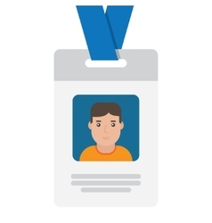 User id card with male photo vector