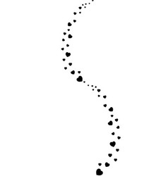 Valentines clip art with heart confetti wave vector