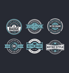 variety decorative badges set vector image
