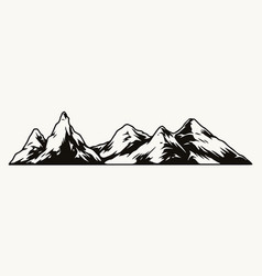vintage mountain range template vector image