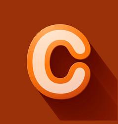 Volume icons alphabet c vector