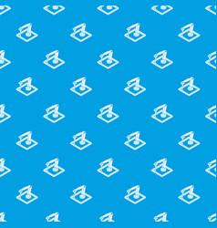 wall d printering pattern seamless blue vector image
