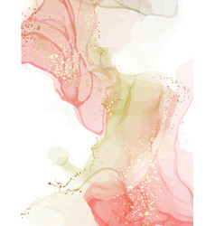 Watercolor resin art pinting fine art alcohol ink vector