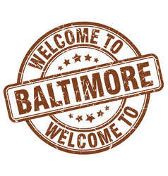 Welcome to baltimore vector