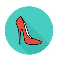 Woman shoes vector image
