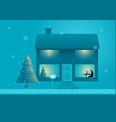 Working during christmas vector