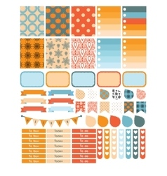 Autumn planner sticker set for a week vector image vector image