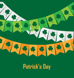 bunting with clover on vector image vector image
