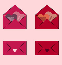 envelopes with valentines on valentine s day vector image