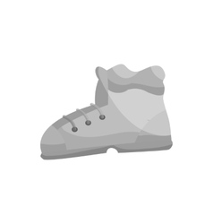 Sport shoe icon black monochrome style vector image
