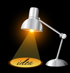 table lamp illuminating and idea concept vector image