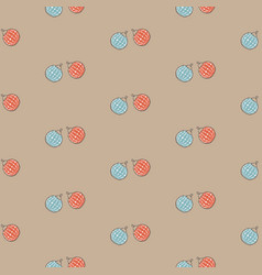 winter seamless pattern with festive red and blue vector image