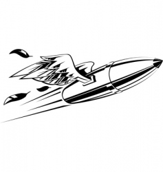 bullet with wings vector image vector image
