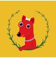Cute Female Dog Portrait vector image vector image