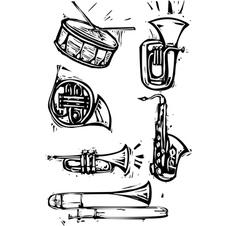 Musical instrument set vector