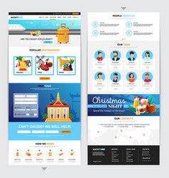 travel agency web page design vector image