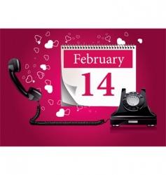Valentine's phone vector image vector image