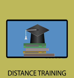 Distance training icon flat design vector image