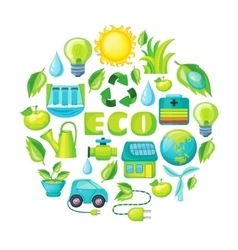 Ecology Cartoon Composition vector image