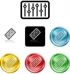 equalizer icon vector image